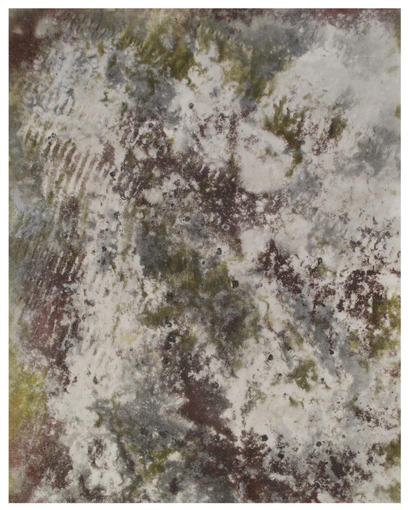 Boden - rust, coal and enamel on vellum – 50 x 40 cm.