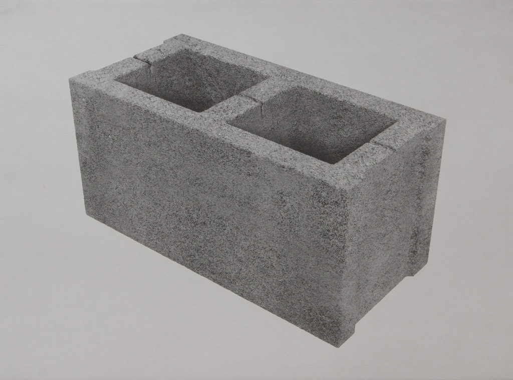 bloque de hormigón - lithography - 22 x 30 in.