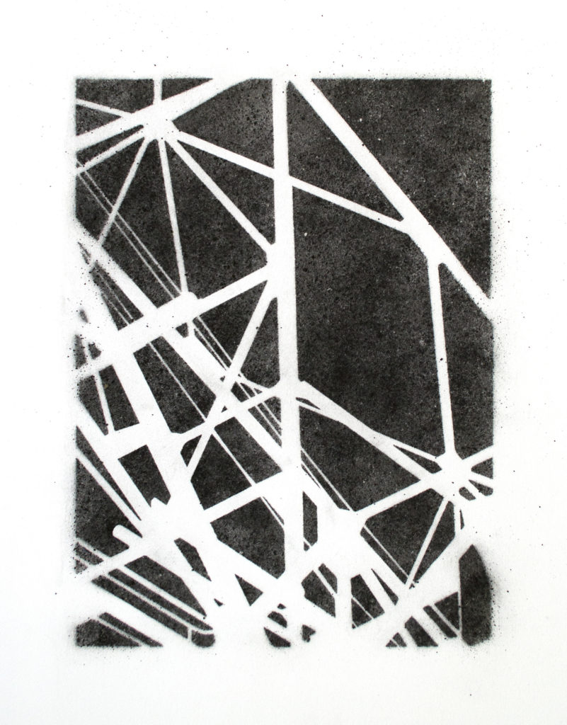 Kranbrücke - coal on paper – 22.75×17 in.