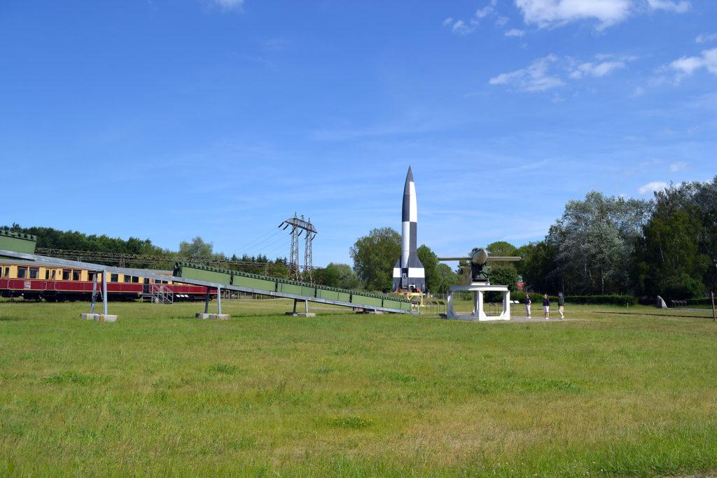 V-2 rocket and V-1 flying bomb
