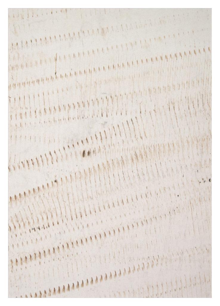 Voll Gewindestange - rust on vellum – 24×19 in.