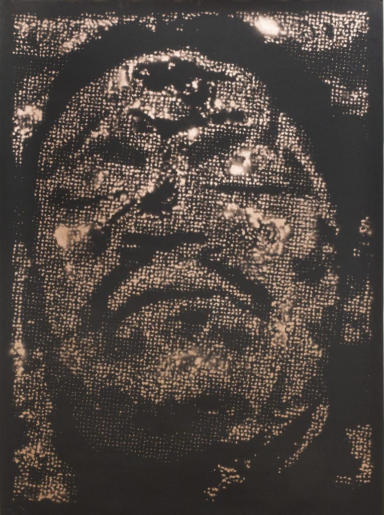 Retrato 12 (cobre) metallic copper enamel on paper 48 1/2 x 36 in.