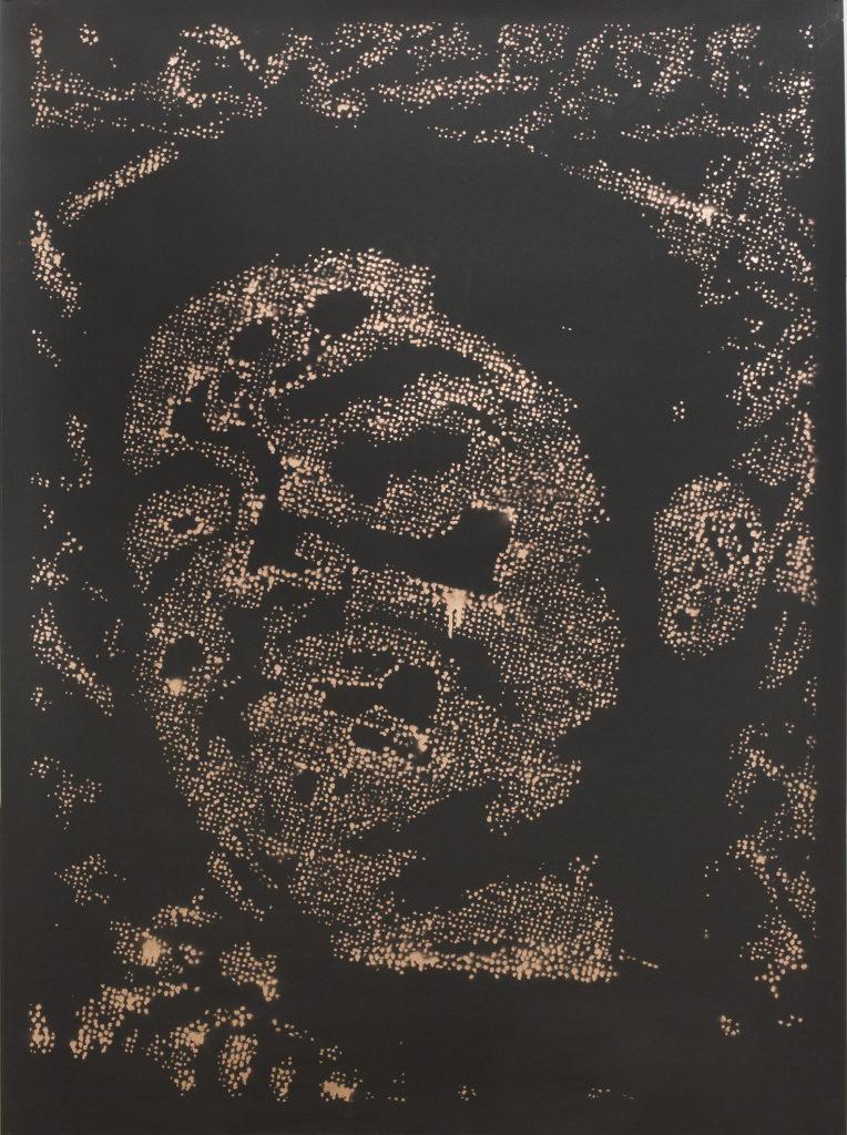 Retrato 17 (cobre) metallic copper enamel on paper 48 1/2 x 36 in.