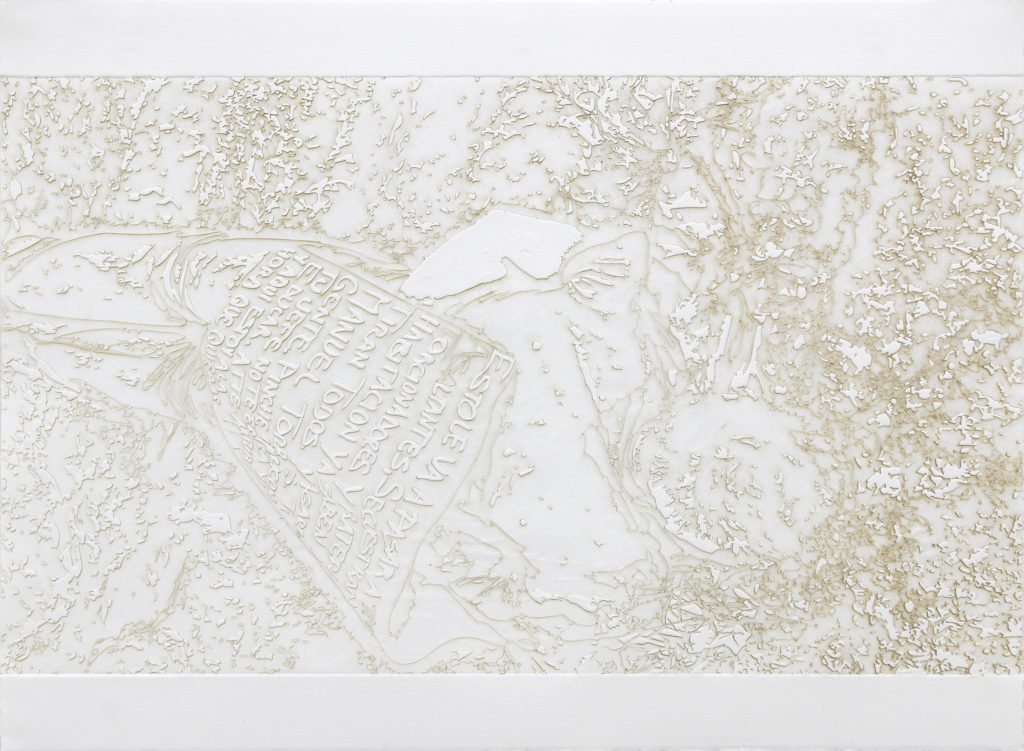 letrero - burnt residue embossing - 22 x 30 in.
