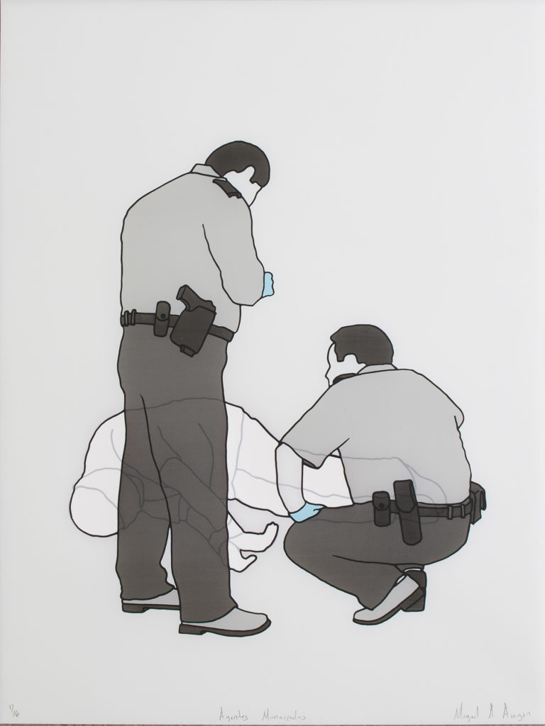agentes municipales – screenprint – 24 x 18 in.